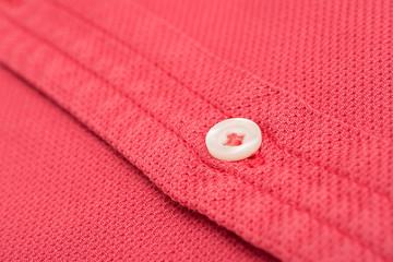 Coral Red Men Shirt Close Up Details
