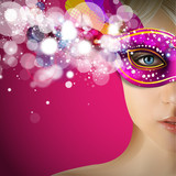 Fototapety carnevale, maschere, donna