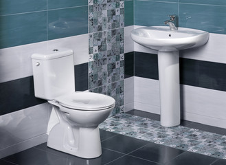 detail of a luxurious bathroom with modern tiles