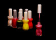 Nail polish, varnish bottles