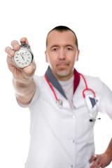 Konzept: Ärzte und Pfleger mit Zeitdruck