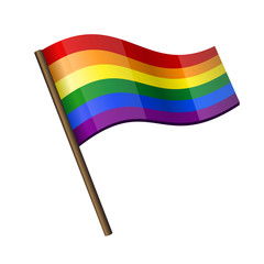 Rainbow Curl Flag Icon