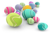 Fototapety Easter eggs with colorful designs