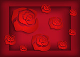Abstract roses background - 61701615