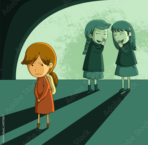 little girl being ostracized and bullied