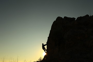 tırmanış güneş doğarken