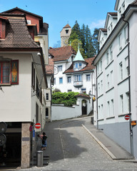 Luzern Panorama, Switzerland. april 2012