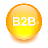 bouton internet B2B icon orange