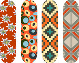 Vector pack with four skateboards designs