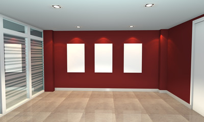 red interior gallery