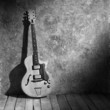b&w vintage jazz guitar