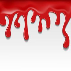 красная краска на белом фоне