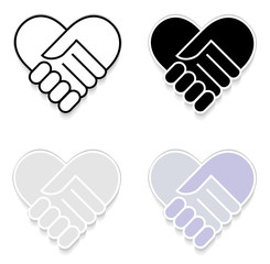 Hand shake sticker