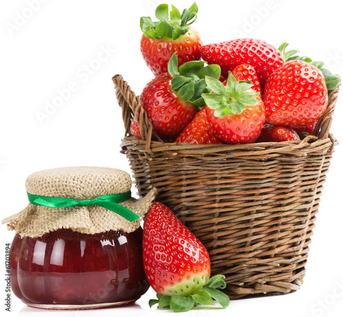 strawberry and jam