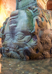 Medusa Head in the Basilica Cistern,Istanbul