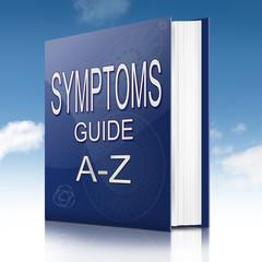 Symptoms concept.