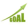 Goal green arrow