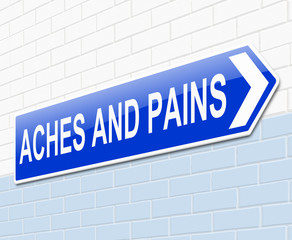Aches and pains concept.
