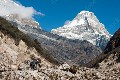 Trekking in Everest region, Himalayas of Nepal