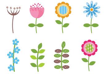 Retro style flowers
