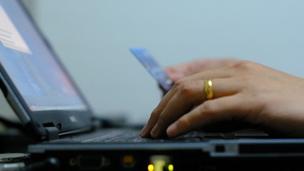 Shopping online and payment with a credit card