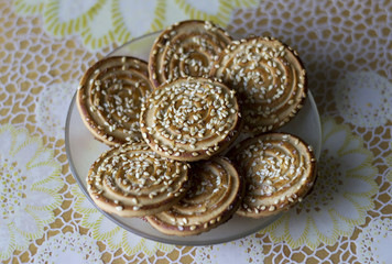 Festive cookies with sesame