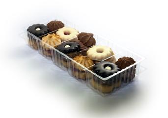 cookies in plastic box