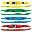 set of touring sea kayaks