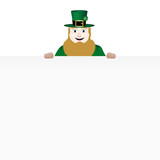 leprechaun with banner