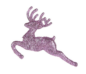 Leaping reindeer glitter Christmas ornament.