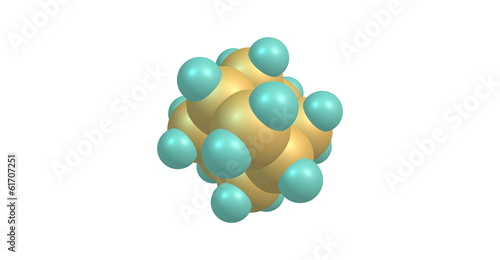 Adamantane molecular model isolated on white
