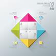 Infographics, Origami colorful paper for business design