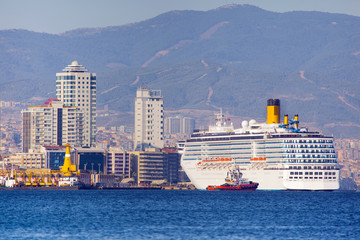 ship in Izmir, Turkey. Transporting people