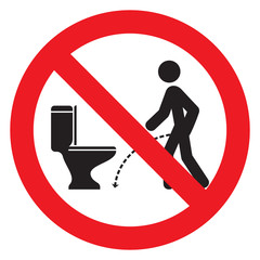 No pissing sign