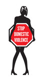 Stop Domestic Violence sign