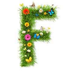 """Spring letter """"F"""""""