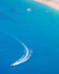Parasailing at Alanya beach, Antalya Turkey