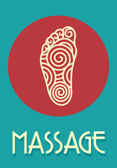 Foot massage retro poster