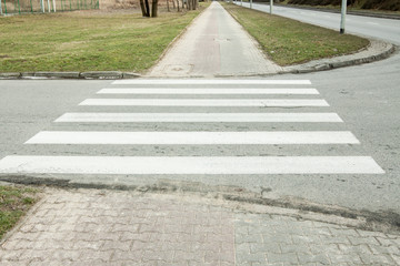 pedestrian crossing - horizontal road marking