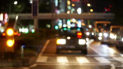夜の青山通りイメージ (インターバル撮影)
