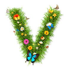 "Spring letter ""V"""