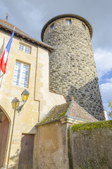 the tower of diamond in Charolles, Burgundy, France