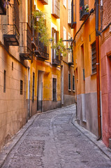 Calle del Toledo antiguo, España, estrecha, angosta