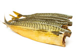 smoked fish isolated