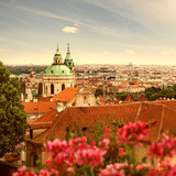 View of Prague in summer
