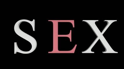 3D Sex word