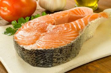 Trancio di salmone fresco