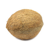 big coconut on white background