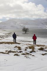 Dos personas en Paisaje Nevado