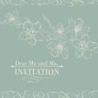 Vintage decorative invitation card with sakura